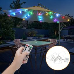 104 LED Outdoor Garden Umbrella Remote Light Patio Yard Sun