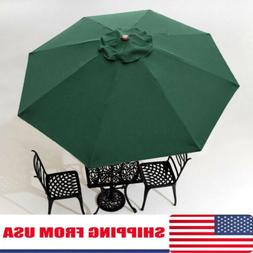 10FT 8 Rib Patio Umbrella Canopy Top Cover Replacement Outdo