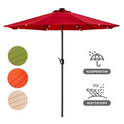 10ft LED Patio Outdoor Umbrella Beach Garden Market Umbrella