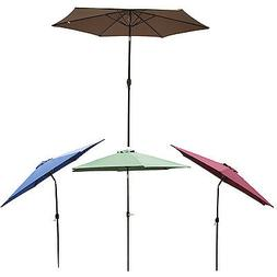 10FT Patio Umbrella Polyester Tilt Sun Shade Market Garden O