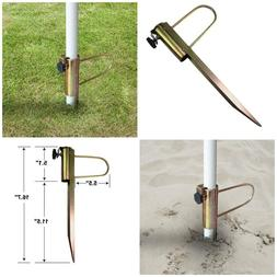 "16.7"" Pole Holder Anchor Stake Beach Umbrella Sand Perfect F"