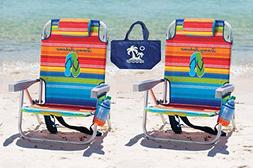 2 Tommy Bahama Backpack Beach Chairs  + 1 Medium Tote Bag