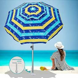 AMMSUN 2018 7 ft Sand Anchor Beach Umbrella Fantastic Water