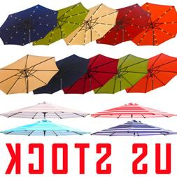 220g Sun UV Large Vintage Umbrella Garden Outdoor Patio Beac