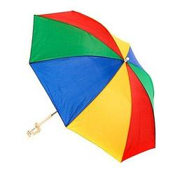 "4 FT 48"" RAINBOW CLIP ON CHAIR UMBRELLA BEACH POOL PICNIC YE"