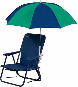 JGR Copa 4 Ft. Clamp-On Beach Umbrella One Size Navy blue/te