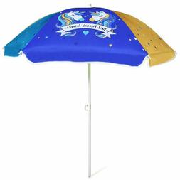 Ammsun 47 Inch Seaside Beach Umbrella For Sand And Water Tab