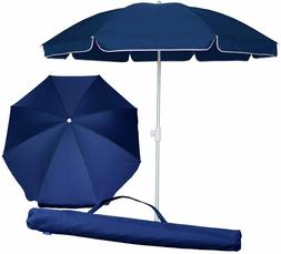 AMMSUN 6.5 Feet Beach Umbrella Sun Protection with Tilt Tilt