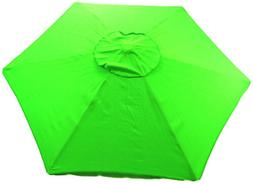 Copa 6.5 Ft. Beach Patio Market Umbrella Lime Green Sunblock