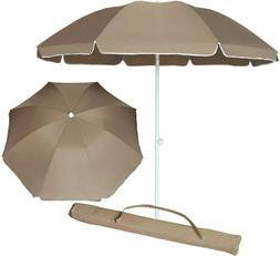 AMMSUN 6.5 ft Portable Outdoor Picnic Patio Beach Umbrella U