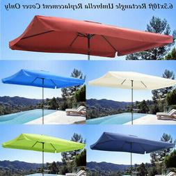 6.5X10ft Patio Outdoor Umbrella Canopy Top Replacement Cover