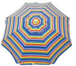 6 ft beach umbrella with integrated sand