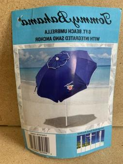 Tommy Bahama 6 Ft Beach Umbrella With Intergrated Sand Ancho