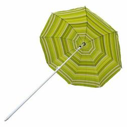 Astella 6 ft. Stripe Beach Umbrella Polyester with UV Coatin