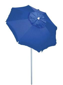 Rio Beach 6' Umbrella with Sun Block, Blue