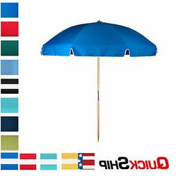 7.5 ft. Steel Commercial Grade Wood Pole Beach Umbrella, Acr