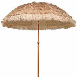 AMMSUN 7.5ft Hula Thatched Tiki Umbrella Hawaiian Style Beac