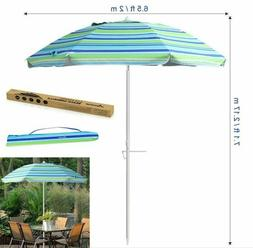 7'/6.5' Portable Beach Chair Umbrella Balcony Parasol w/ Til