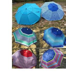7 beach umbrella w tilt sun flaps