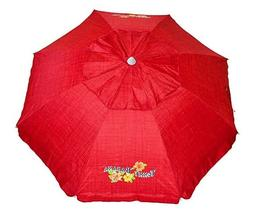 Tommy Bahama 7 Ft Sun Beach Patio Vented Tilt Umbrella Apple