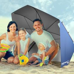 7 Ft Umbrella Sun Shelter Portable Beach Canopy 82 Inch Pole