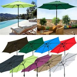 8ft 9ft Outdoor Patio Umbrella Aluminum Sun Shade Market Cra