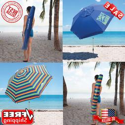 Tommy Bahama 8-ft Beach Summer Durable Umbrella With Carry B