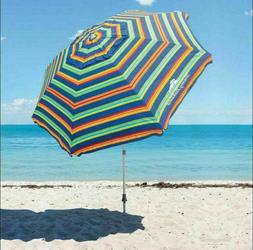 8-ft Tommy Bahama Beach Umbrella Aluminum Pole Tilt Option W