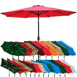 Outdoor Patio Umbrella Aluminum 8ft/9ft/10ft/13ft Common/LED