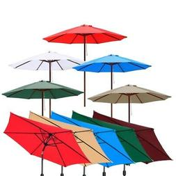 8ft/9ft/10ft/13ft Outdoor Patio Umbrella Garden Aluminum Bea