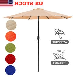 9Ft Outdoor Patio Umbrella Aluminum Tilt W/ Crank Beach Mark