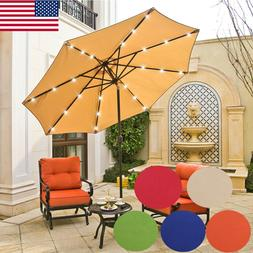 9ft Patio Outdoor Umbrella LED Beach Garden Market Umbrella