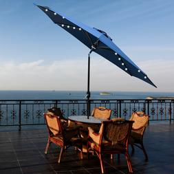 9FT Patio Umbrella Regular/LED Option Outdoor Market Beach w