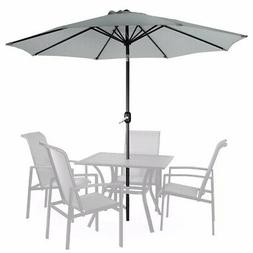 9FT Patio Umbrella Outdoor Parasol Market w/Tilt Crank Beach