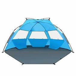 TAGVO Pop Up Beach Tent Sun Shelter Easy Set Up Tear Down, P