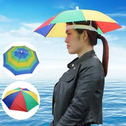 Adjustable Sun Rain Umbrella Hats Foldable Beach Play Fishin