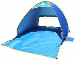 OutdoorsmanLab Automatic Pop Up Beach Tent- UV 50 Protection