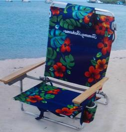 Tommy Bahama Backpack Beach Chair Classic 5 Position Insulat