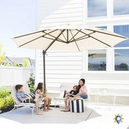 Backyard Umbrella Pool Patio Stand Cantilever Base Outdoor B