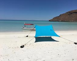 Beach Tent with Sand Anchor, Portable Canopy for Shade