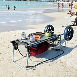Beach Board Table Cart Folding Cup Umbrella Towel Wonder Hol