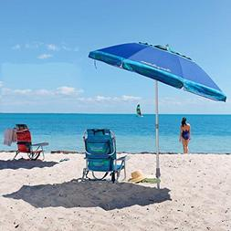 Tommy Bahama Beach Chair + 7' Umbrella BLUE - 2018