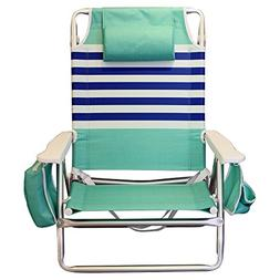 Nautica Beach Chair, Mint and Blue