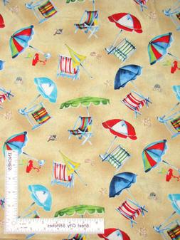 Beach Chair Umbrella Toss Sand Bge Cotton Fabric Wilmington