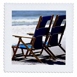 3dRose Beach Chairs, Umbrella, Ship Island, Mississippi - US
