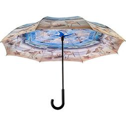 Galleria Beach Scene Reverse Close Umbrella - Beach Umbrella