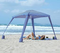 AMMSUN Beach Tent w/ Sandbag Anchors Portable Canopy Sun-She