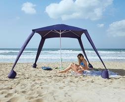 AMMSUN Beach Tent w/-sandbag-anchors-Portable-canopy-Sun-She