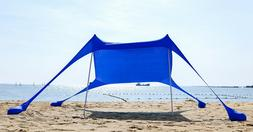 AMMSUN Beach Tent with sandbag, Portable Canopy Sun Shelter,