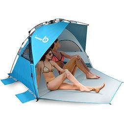 Odoland 8 Feet Easy Up Beach Tent, Anti-UV UPF 50+ Sun Shade